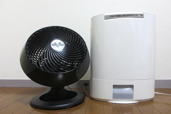 部屋干し・室内干しには除湿器とサーキュレーターを使う