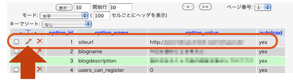 phpmyadminで動作確認URLを設定