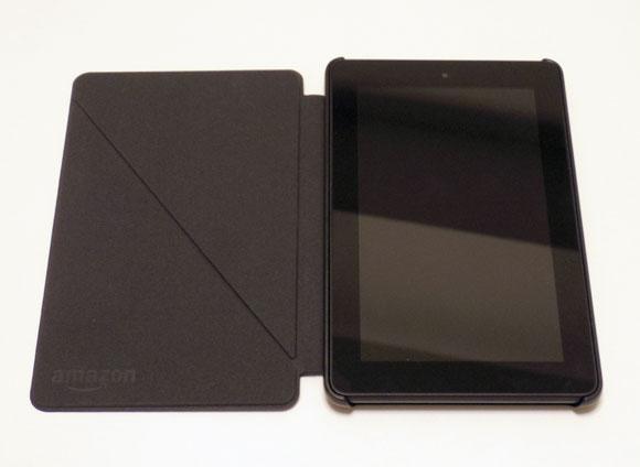 Amazon Fireタブレット8GBブラックにカバーを嵌める
