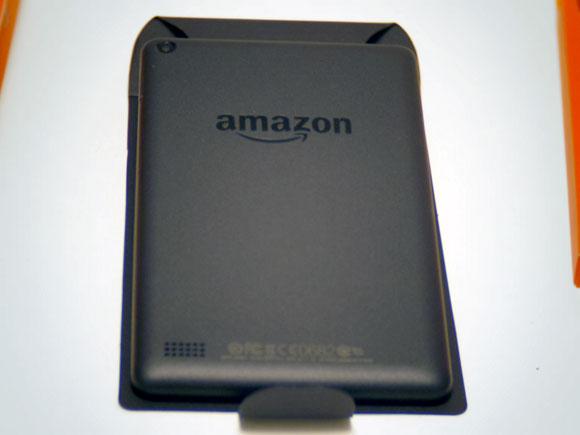 Amazon Fireタブレット8GBブラックの裏側
