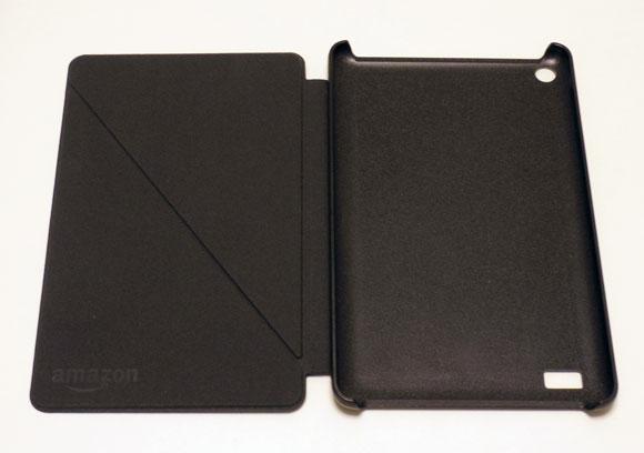 Amazon Fireタブレット8GBブラックの蓋を開けたところ