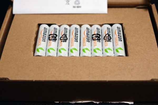 Amazon basicsの充電池単三