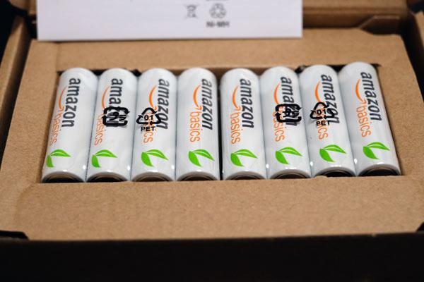 Amazon basicsの充電池単四