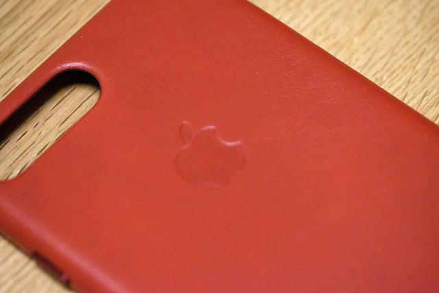 ケース背面にはappleのロゴ